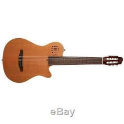 Godin Multiac Nylon Encore 7-String Acoustic Electric Guitar, Natural Semi-Gloss