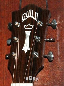 Guild M-120E Steel String Acoustic-Electric All Solid Mahogany Guitar withCase