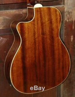 Guild OM-140CE Cutaway Acoustic-Electric All Solid Spruce Mahogany Guitar withCase