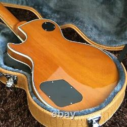 Guitar Factory Custom Electric Guitar Yellow Black Accessories Fast shipping