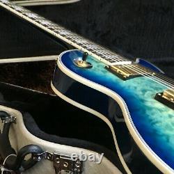 Guitar Factory Custom Standard Electric Guitar Blue Flower Fast shipping