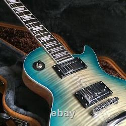 Guitar Factory Custom Standard Gray Blue Electric Guitar Fast shipping