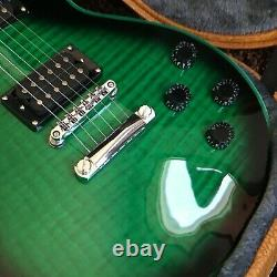 Guitar factory customized electric guitar high quality Green Bind Fast Delivery