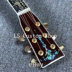 Handmade 41 Top Quality Full Koa Top&back side Electric Acoustic Guitar Bone