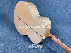 Handmade 43 Jumbo Top Quality ZW-J200D Solid Top Electric Acoustic Guitar