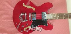 Hartwood Semi acoustic electric guitar in Cherry Red with Blackstar starting amp