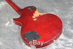 Heavy Relic 1959 LP Electric Guitar Aged Hardware One Piece Body&Neck Ebony