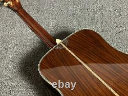 High Quality D45S Solid Top Electric Acoustic Guitar Abalone Inlay Bone Nut 101