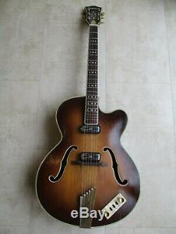 Hofner GuitarPresidentVintage 1965ArchtopElecto-acousticRoad worn