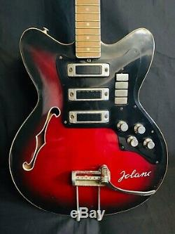 JOLANA SPECIAL RARE Vintage Semi-acoustic Electric Guitar Czech Soviet USSR