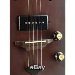 J. N Guitars CASK-HOGSHEAD Acoustic Electric Cigar Box 4 String Guitar with Gig Bag
