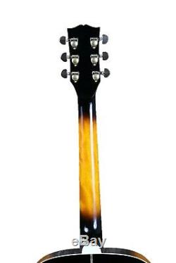 Jumbo 43 Electric Acoustic Guitar Fishman 101 Gold Hardware Sunburst Color