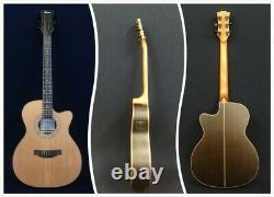 Klema Solid Cedar Top Small Jumbo Electric-Acoustic Guitar, EQ+Free Bag. K300JC-CE