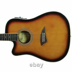Kona K2 Series Left Handed Thin Body Acoustic Electric Guitar Sunburst K2LTSB