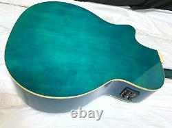 LUNA Fauna Eclipse Acoustic Electric Guitar Trans Blue NEW B Stock RARE FIND