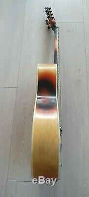 LVOV vintage soviet electro-acoustic jazz guitar 6/7 string, USSR 70s