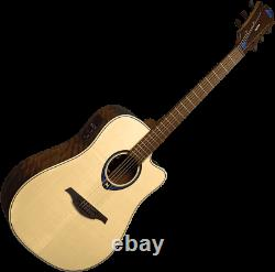 Lag THV20DCE HYVIBE Smart Guitar Acoustic Electric Guitar with looper, Solid Top