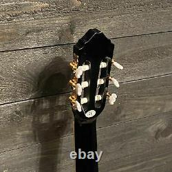 Lucero LCT250CE Thinline Nylon String Classical Black Acoustic Electric Guitar