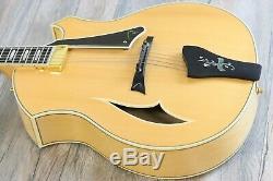 MINT! Parker PJ-14 Archtop Jazzbox Natural Acoustic-Electric Guitar + OHSC