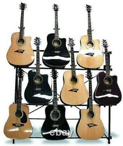 Mirage AGR1009 Multi Guitar Display Stand Holds 9 Acoustic or Electric Guitars