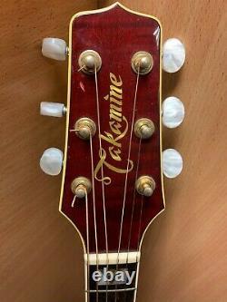 (NE6) Takamine EF LTD 88 Japanese Acoustic Guitar Very Rare In Genuine Case