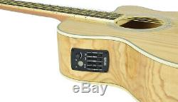 Native Pie-Bald Ash Electro-Acoustic Guitar 4-band EQ preamp with built-in tuner