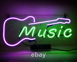 New Acoustic Electric Guitar Music Bar Pub Wall Decor Neon Light Sign 14
