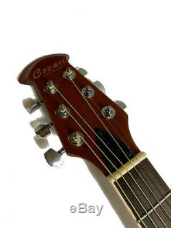New Burst Ovat. Style 6 String Acoustic Electric Flame Round Back Guitar