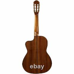New Oscar Schmidt OH30SCE Acoustic Electric Requinto Guitar with Gig Bag, Natural