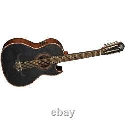 New Oscar Schmidt OH32SEQTB Acoustic Electric Bajo Quinto Guitar withBag, Black