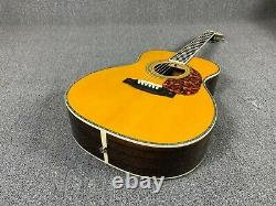 OM42 Classical Acoustic Electric Guitar Solid Spruce Top Ebony Fingerboard