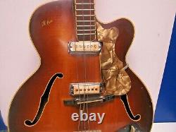Orig. 1958 RARE Hofner 4550 Semi-Acoustic Electric Guitar-withGig Bag