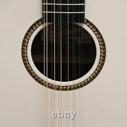 Oscar Schmidt OD312CEWH 12-String Dreadnought Acoustic Electric Guitar, White