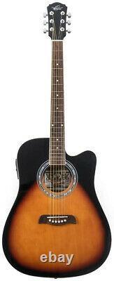 Oscar Schmidt OD45CE Dreadnought Acoustic-Electric Guitar Vintage Sunburst