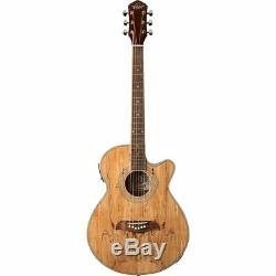 Oscar Schmidt OG10CESM Concert Cutaway Acoustic Electric Guitar, Spalted Maple