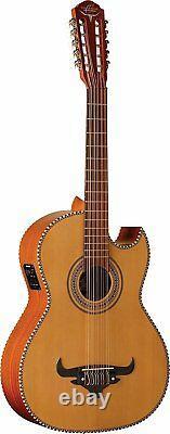 Oscar Schmidt OH42SE-O-U 10-String Acoustic-Electric Bajo Quinto Guitar