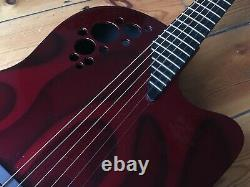 Ovation 1778T Elite Red Flame Electro Acoustic Guitar 2004 USA