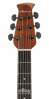 Ovation Applause 6 String Acoustic-Electric Guitar, Right, Ruby Red, Mid
