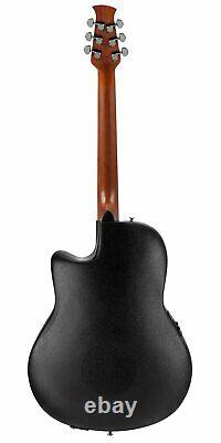 Ovation Applause Elite Series Acoustic-Electric Guitar Spruce Top Black