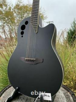 Ovation Applause Standard Mid Depth Acoustic Electric Guitar Black Satin AE44-5S
