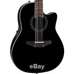 Ovation Standard Balladeer 2751AX-5 12-String Acoustic-Electric Guitar Black AA