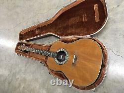 Ovation acoustic electric guitar Model 1612 With Original Hard Case 1970s