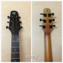 P304 111EQ 37 Caraya All Mahogany Electric-Acoustic Guitar withEQ, Arched-Back+Bag