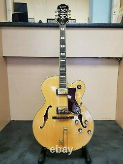 (Pa2) 2005 Epiphone Broadway Guitar In Blonde Natural Finish