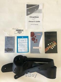 Rare autographed custom Ovation Elite T acoustic-electric Nikki Sixx bass guitar