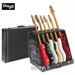 STAGG UNIVERSAL MULTI GUITAR STAND CASE HOLDS 6 ELECTRIC or 3 ACOUSTIC GUITARS