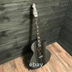 Schecter Guitar Research DJ Ashba Signature Carbon Grey Acoustic Electric Guitar