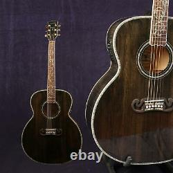 Starshine Jumbo DJ20 Electrionic Acoustic Guitar Solid Spruce Top Abalone Inlay
