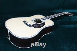 Starshine Piaget Style Electric Acoustic Guitar Ebony Fingerboard Solid Top Abal