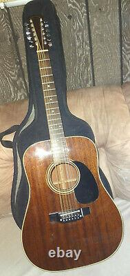 TAKAMINE EF-389 all Mahogany Acoustic Electric 12 String Guitar 1981